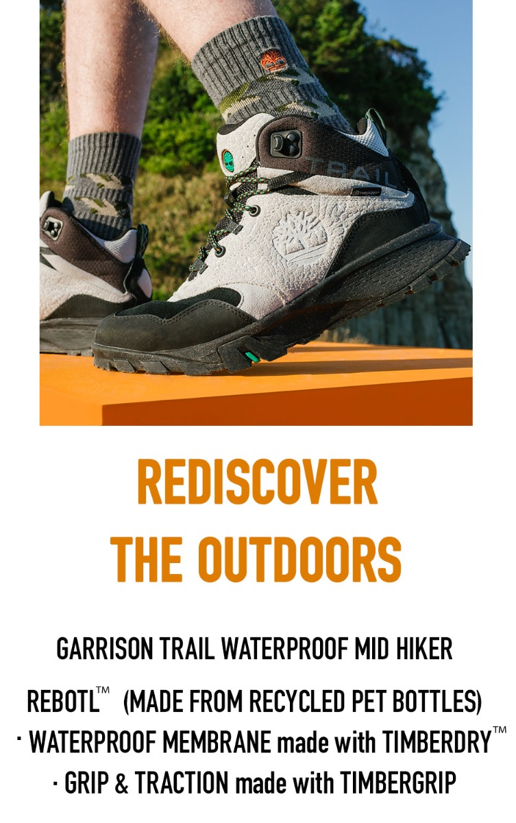 Rediscover the Outdoors. Garrison Trail Waterproof Mid Hiker.