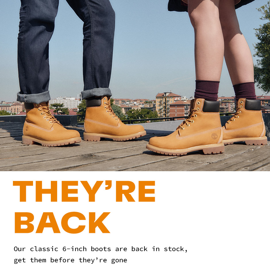 Our classic 6-inch boots are back in stock, get them before they're gone