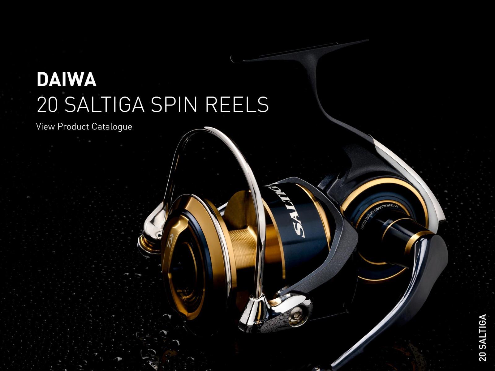 Daiwa 20 Saltiga Spinning Reel Hero Image XS